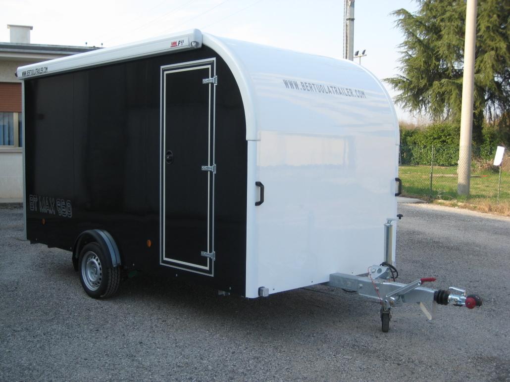 Rimorchio furgonato bt max 750 bertuola trailer srl for Ottone usato prezzo al kg