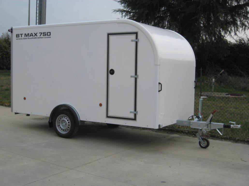 Rimorchio furgonato bt max 750 bertuola trailer srl for Bertuola rimorchi